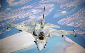 F-16 fighter, Fighting Falcon HD wallpaper