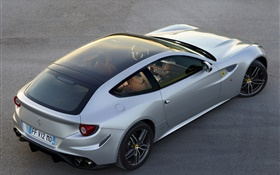 Ferrari FF GT supercar top view HD wallpaper