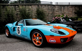 Ford GT40 blue supercar HD wallpaper