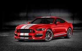 Ford Mustang GT350 red car HD wallpaper