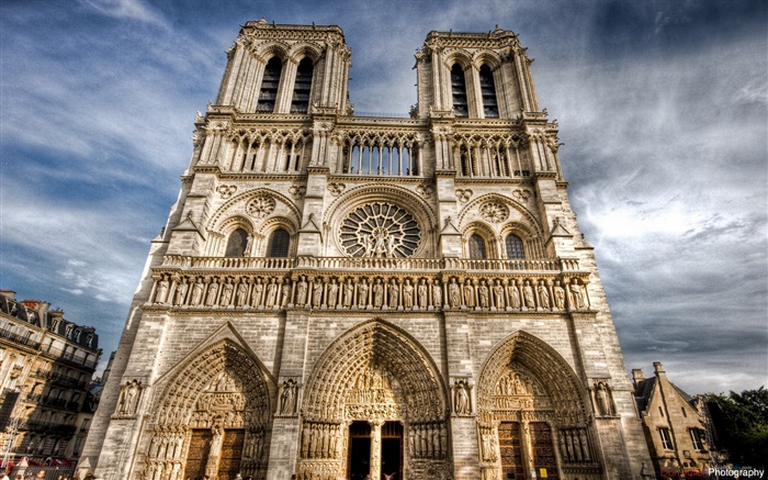 France, Notre Dame, buildings Wallpapers Pictures Photos Images
