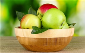 Fresh fruit, green and red apples HD wallpaper
