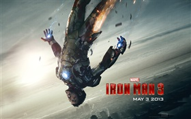 Iron Man 3, falling HD wallpaper