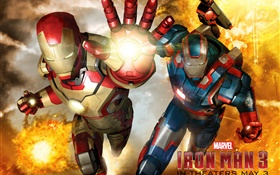 Iron Man 3, two heroes HD wallpaper