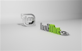 Linux Mint 15 system 3D logo HD wallpaper