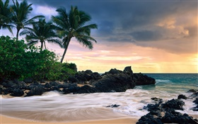 Makena Cove, Maui Island, Hawaii, secret beach HD wallpaper
