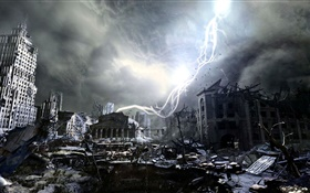 Metro: Last Light, city ruins HD wallpaper
