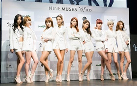 Nine Muses, Korea music girls 17 HD wallpaper