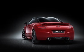 Peugeot RCZ R red car rear view HD wallpaper