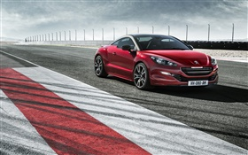 Peugeot RCZ R red car side view HD wallpaper