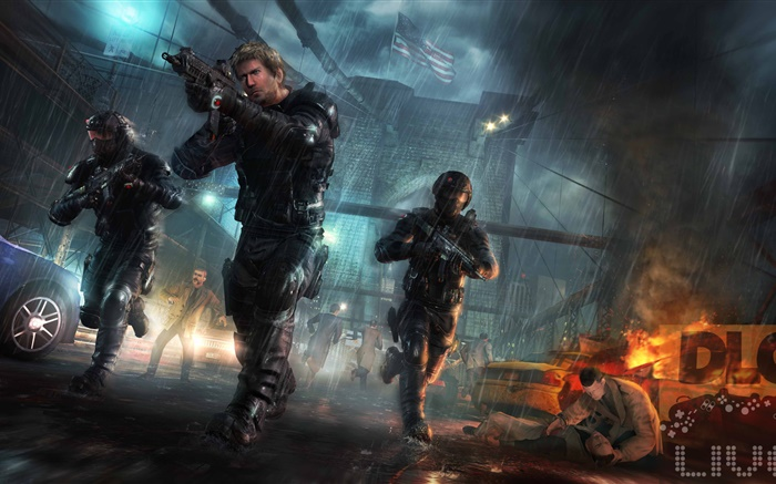 Rainbow 6, soldiers, rain Wallpapers Pictures Photos Images