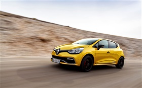 Renault Clio RS 200 yellow car speed