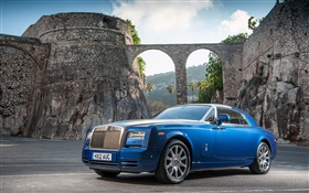 Rolls-Royce Motor Cars, blue luxury car