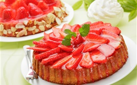 Strawberry slices cake HD wallpaper