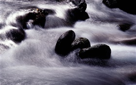Stream, river, black stone