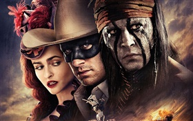 The Lone Ranger, movie widescreen HD wallpaper