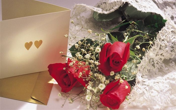 Valentine's Day flowers, red roses Wallpapers Pictures Photos Images