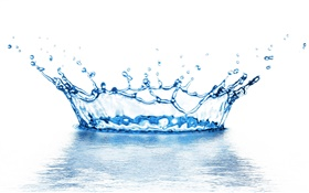 Water splash, imperial crown HD wallpaper