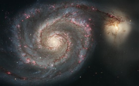 Whirlpool galaxy HD wallpaper