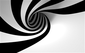 White black abstract hole HD wallpaper