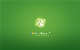 Windows 7 Home Premium, green background