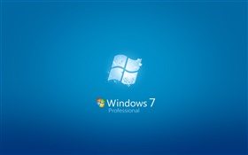 Windows 7 Professional, blue background HD wallpaper