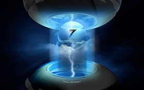 Windows 7, high-tech, lightning HD wallpaper