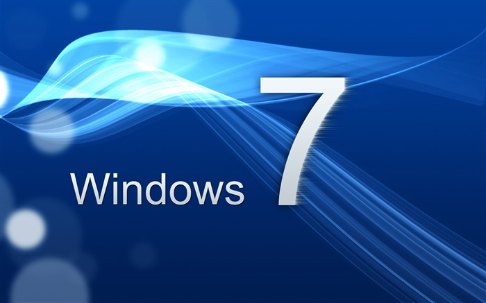 Windows 7, the blue curve Wallpapers Pictures Photos Images