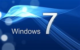 Windows 7, the blue curve HD wallpaper