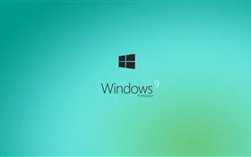 Windows 9, Professional, light blue HD wallpaper
