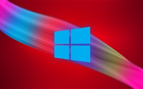 Windows 9 logo, abstract background HD wallpaper