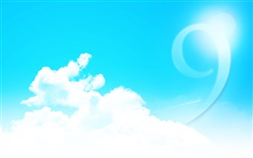 Windows 9 logo, clouds, sky HD wallpaper