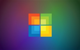 Windows 9 logo, different background HD wallpaper