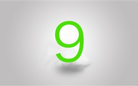 Windows 9 logo, gray background HD wallpaper