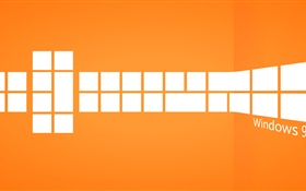 Windows 9, orange style HD wallpaper
