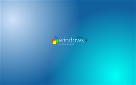 Windows 9 system, blue background HD wallpaper