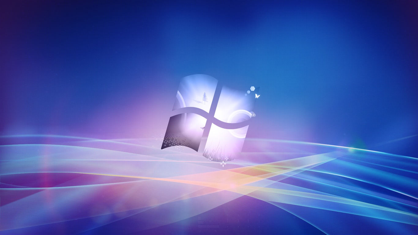 Windows logo, creative design background 1366x768 wallpaper