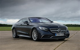 2015 Mercedes-Benz AMG S-Class Coupe C217 black car HD wallpaper