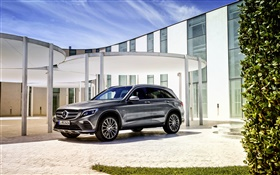 2015 Mercedes-Benz GLC 350 X205 car side view HD wallpaper