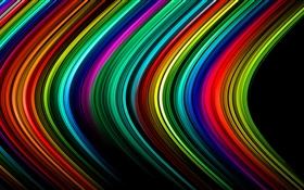 Abstract lines, stripes, colorful, light, rays HD wallpaper