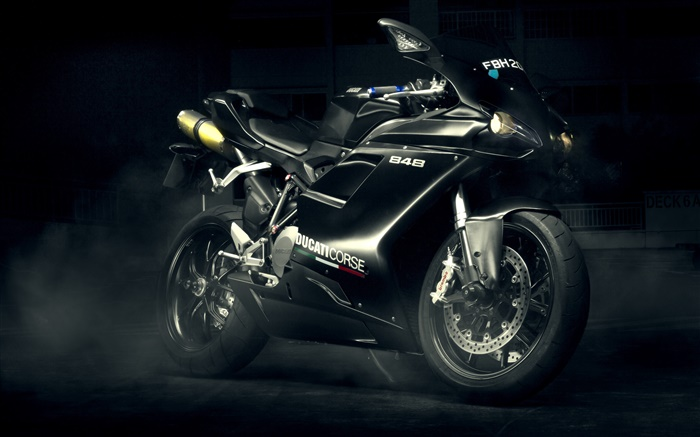 Ducati 848 Evo black motorcycle Wallpapers Pictures Photos Images