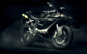 Ducati 848 Evo black motorcycle HD wallpaper