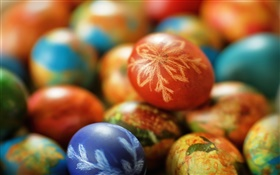 Easter, colorful eggs HD wallpaper