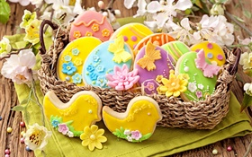 Easter, food, cookies, pastries HD wallpaper
