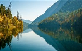 Echo Lake, Monashee Mountains, British Columbia, Canada, water reflection HD wallpaper