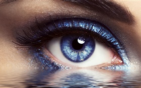 Eyes and water, creative design HD wallpaper
