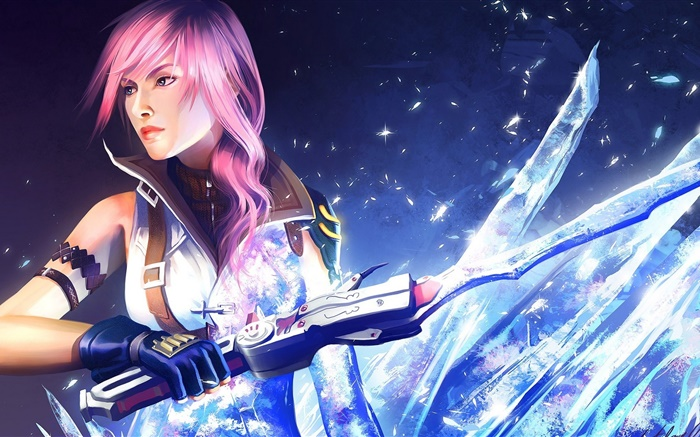 Final Fantasy XIII, sword, girl Wallpapers Pictures Photos Images