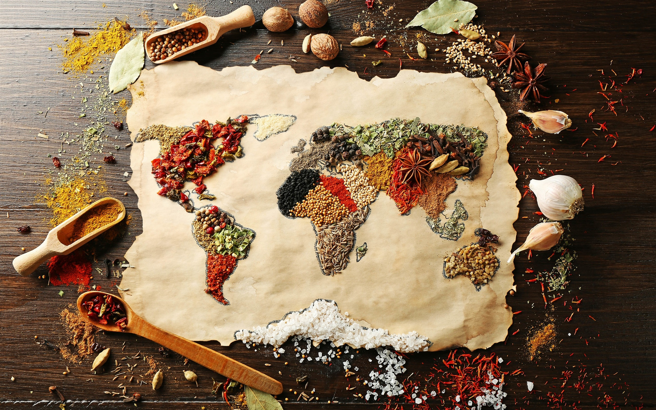 Food spices surface world map creative pictures desktop food spices surface world map creative pictures 2560x1600 wallpaper gumiabroncs Choice Image