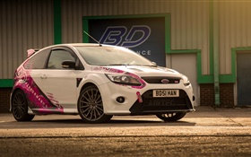 Ford Focus RS white car