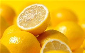 Fruits close-up, lemons HD wallpaper